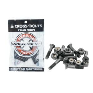 1″ Independent Black Phillips Bolts