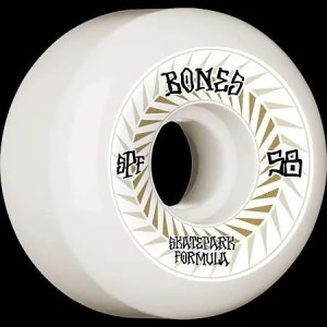 58mm Bones Spines Skatepark Formula Wheels
