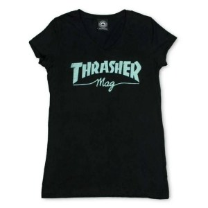 Girls Thrasher Mag Logo V-Neck