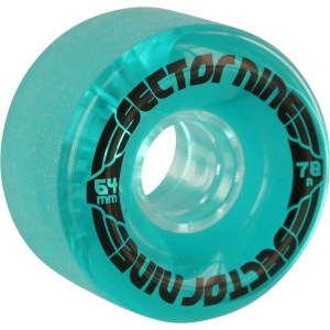 64mm Sector Nine Nineballs Wheels Clear Blue/ Black/ Clear