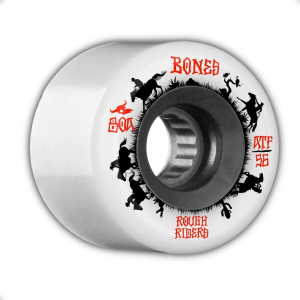 59mm Bones ATF Rough Rider Wranglers Wheels White