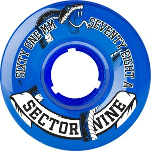 61mm Sector Nine Top Shelf Wheels 78A Blue