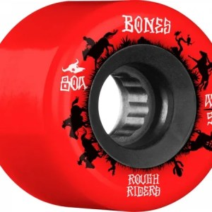 56mm Bones Rough Riders Wranglers Wheels Red