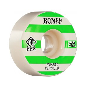 52mm Bones Patterns Wheels V4 Wide Street Tech Formula 99A