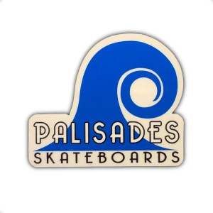 Palisades Skateboards Sticker Blue