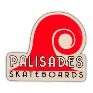 Palisades Skateboards Sticker Red