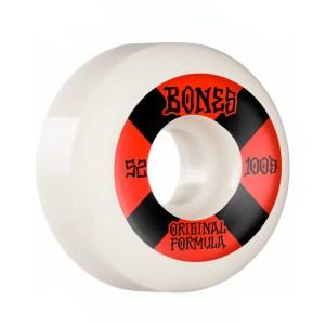 52mm Bones 100 #4 OG Formula Wheels White