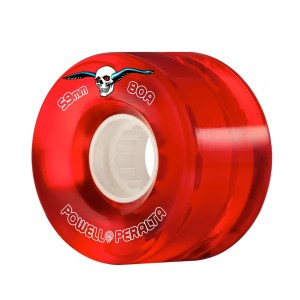 59mm Powell Peralta Clear Cruiser Skateboard Wheels Red