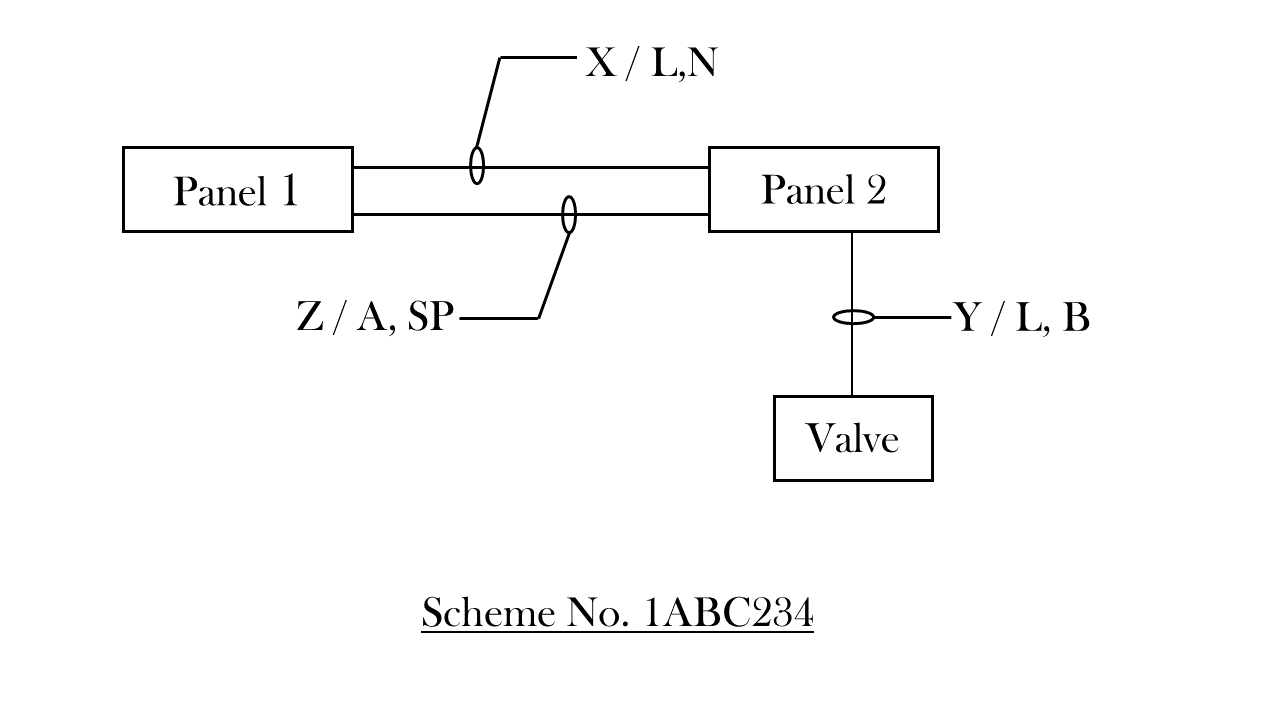 An Example Schematic Drawing I Created To Show Some Standard Symbols Of Block Diagram Valve Control Circuit