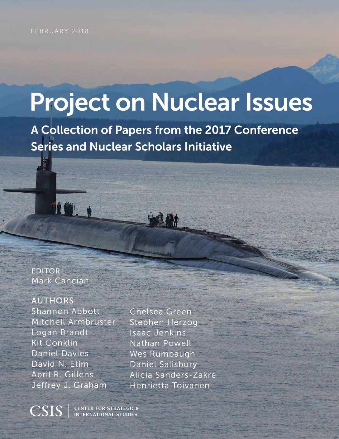 Project on Nuclear Issues 2017 Nuclear Scholars Initiative