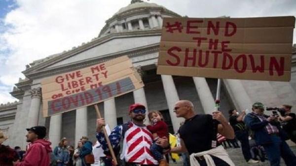 Κορωνοϊός: Εντείνονται οι διαδηλώσεις κατά της καραντίνας στις ΗΠΑ