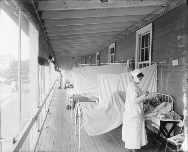 Γρίππη 1918 - Αναρρωτήριο καθαρού αέρα