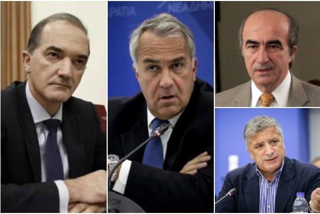 Από αριστερά: Μ. Σαλμάς, Μ. Βορίδης, Π. Σκανδαλάκης, Γ. Πατούλης