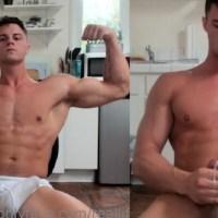 Modelo fitness faz live batendo punheta e gozando @RealLifeSuperman