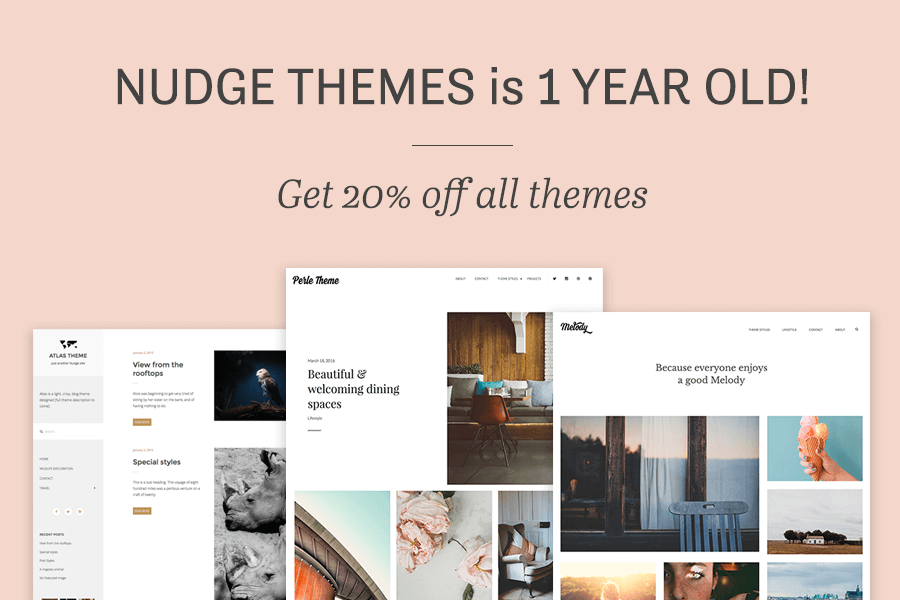 Nudge Themes is 1!