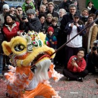 Celebración del Año Nuevo Chino en Amsterdam.
