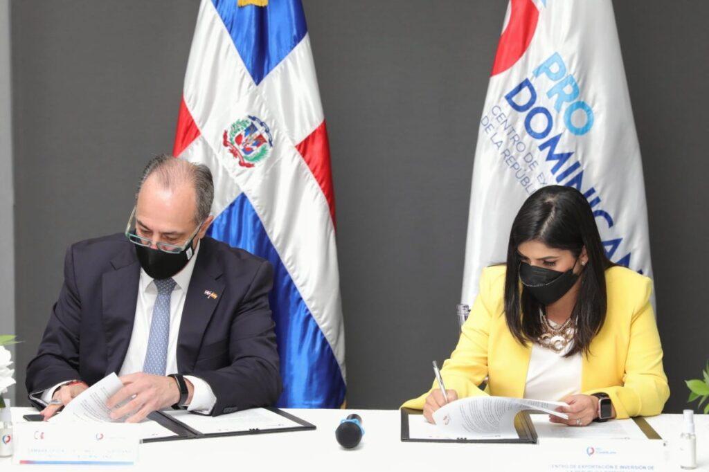 ProDominicana firma acuerdo para promover exportaciones e IED en Europa