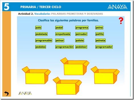 PALABRAS PRIMITIVAS Y DERIVADAS (5/6)