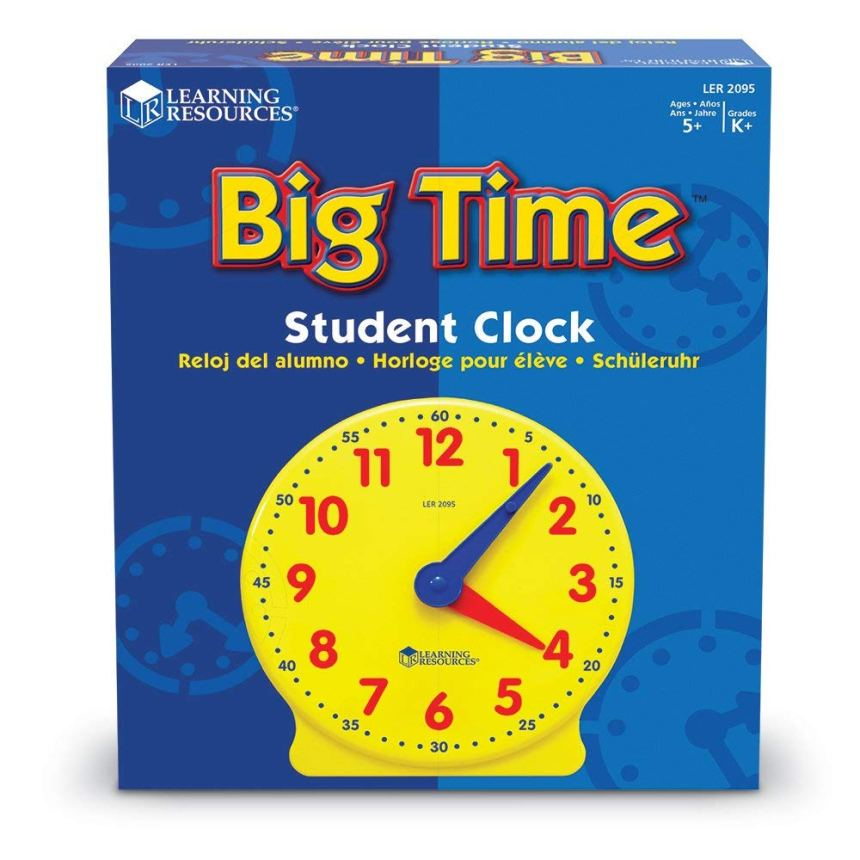 reloj del alumno learning resources big time