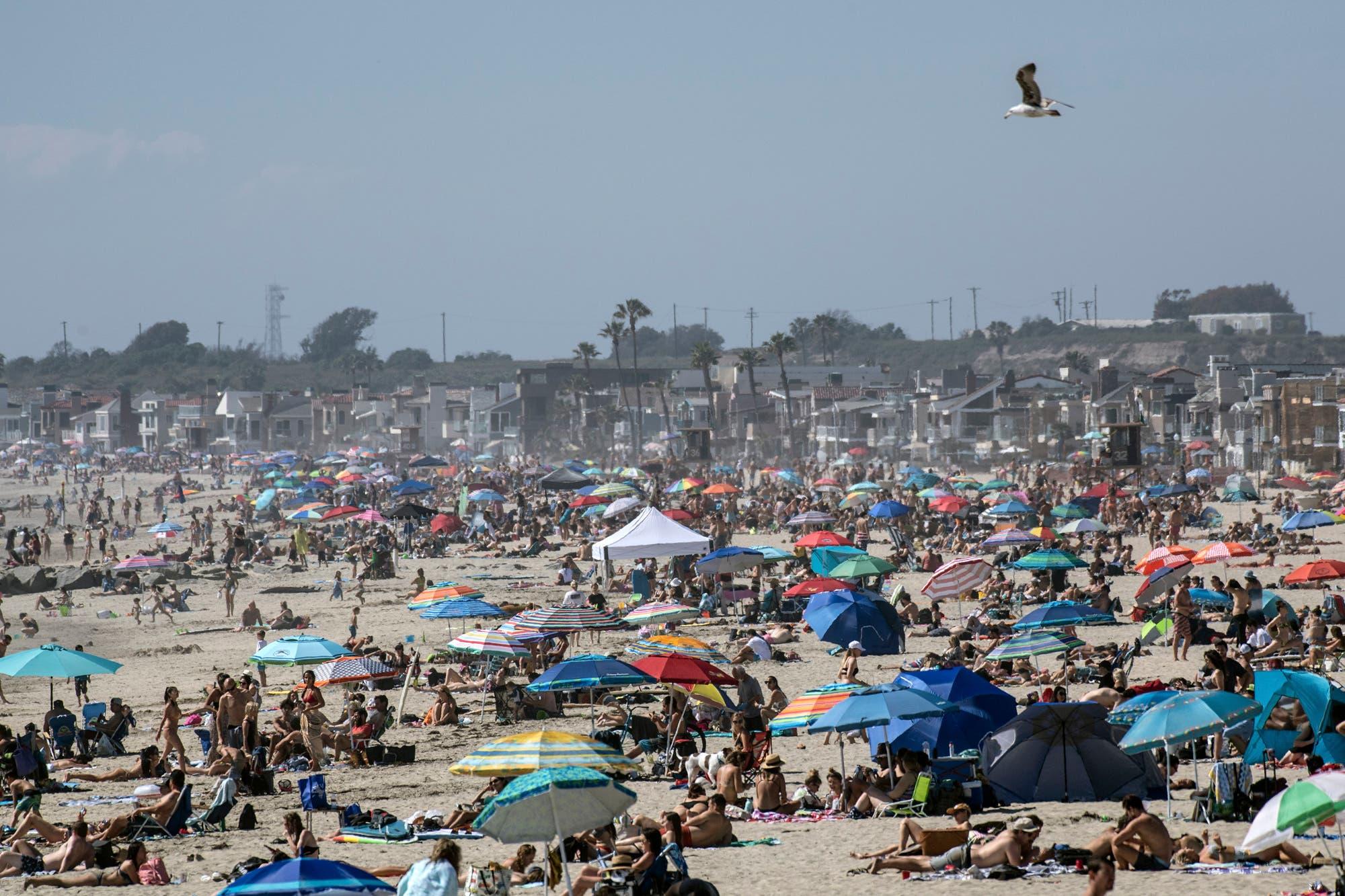 Miami y coronavirus: récord de contagios de coronavirus, falta de camas y playas llenas