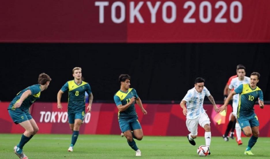 Flojo debut del fútbol en los Juegos Olímpicos: perdió 2 a 0 contra Australia