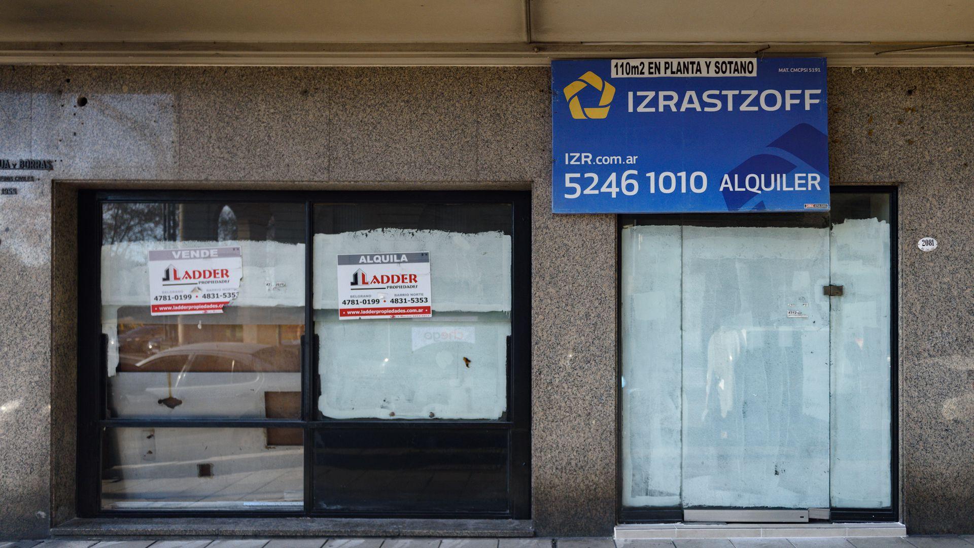 Hay más de 500 locales vacíos en la Ciudad de Buenos Aires, casi el doble que un año atrás