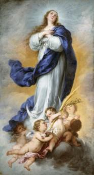 Inmaculada Concepción de Aranjuez; de Murillo, pintura que se expondrá hasta el 31 de marzo en el Museo de Bellas Artes de Houston. Foto: MUSEO DEL PRADO/BBVA