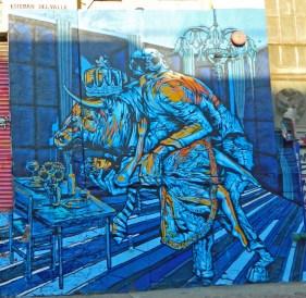 Mural La bella y la bestia de Esteban del Valle en 5pointz, LIC.(Foto JD)