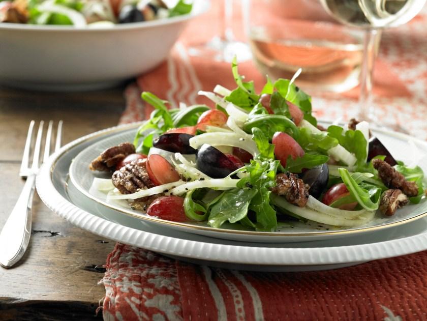 Platillos con uvas