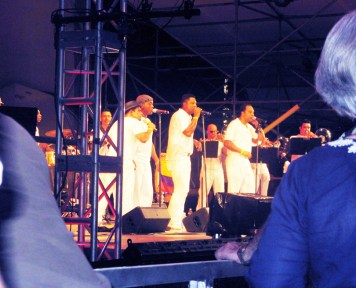 "La Afro Cuban Jazz Big Band de Chico O'Farrill plazoleta del Lincoln Center 'Midsummer Night Swing"" (Foto Nabuco)"