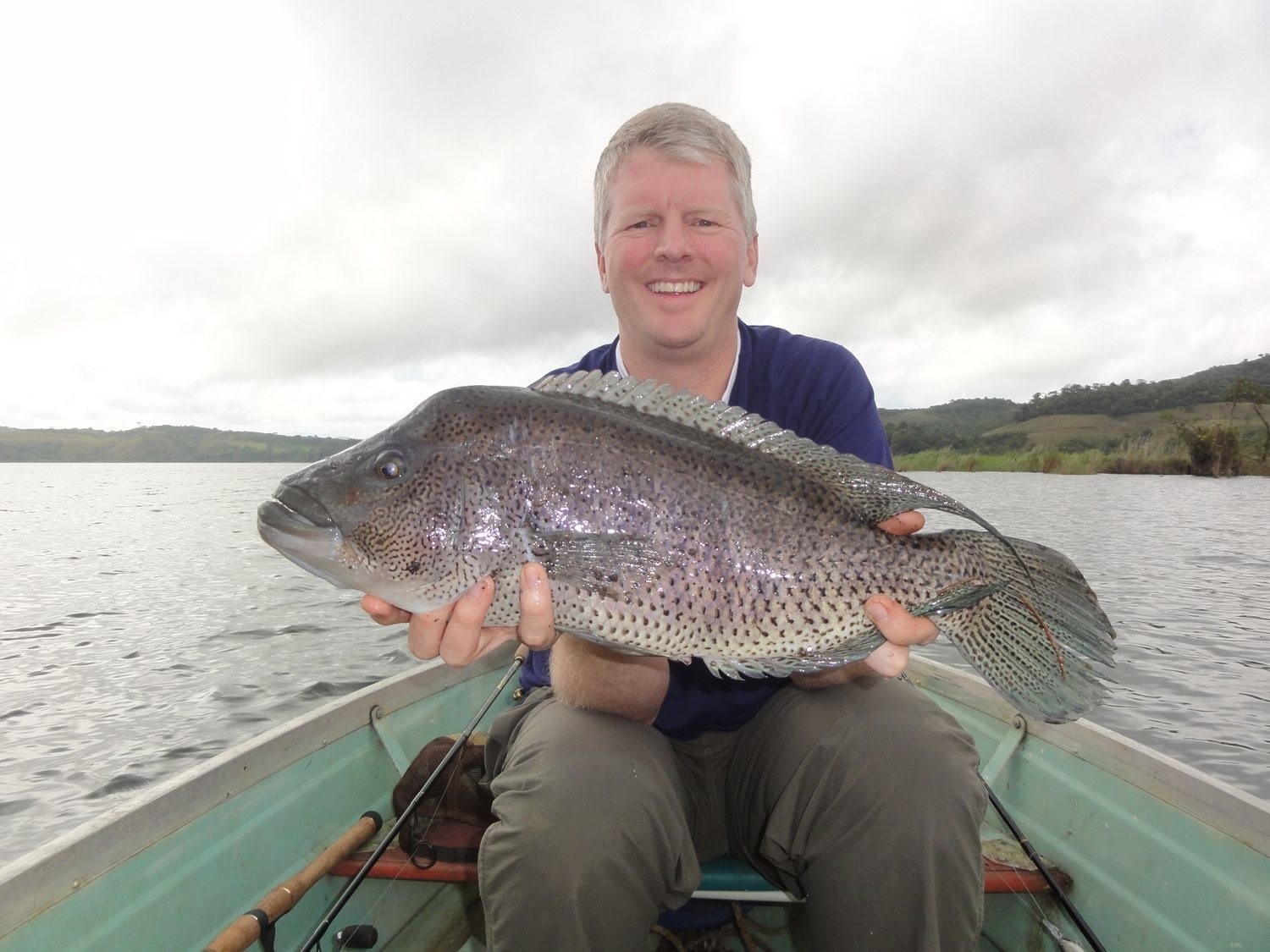 Gerry holding a fine Lake Coter Guapote