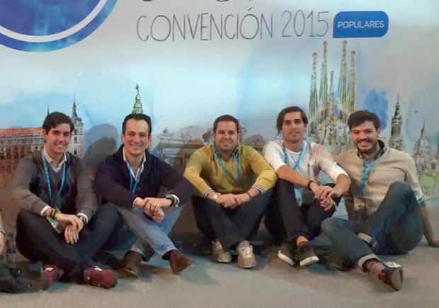 Alejandro Soto, jefe del gabinete de Alcaldía, Antonio José Mesa, Rubén Maireles, Rudy Lamas y Miguel Garzón