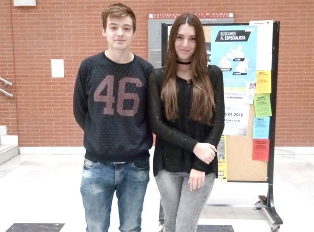 Ionut y Luiza, estudiantes de la UC3M