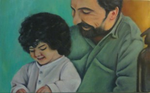 Micaela Ruiz. Recuerdos, óleo sobre tela. 49 x 80 cm. 2013. Selección del público: 894 votos