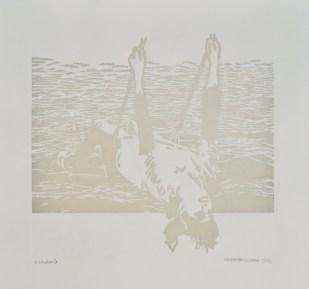 Magdalena Milomes. Sin título, xilografía. 35 x 50 cm. 2012. Selección del jurado