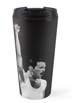 Freddie Mercury travel mug