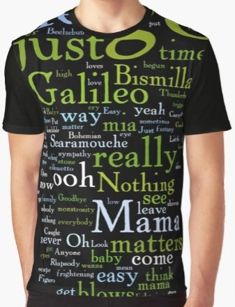 Bohemian Rhapsody lyrics shirt