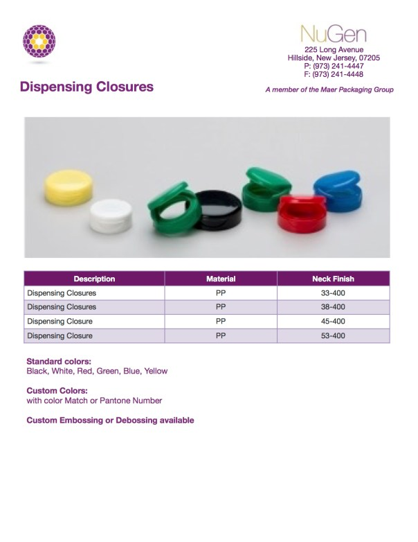 Dispensing Closure 12-3-2015