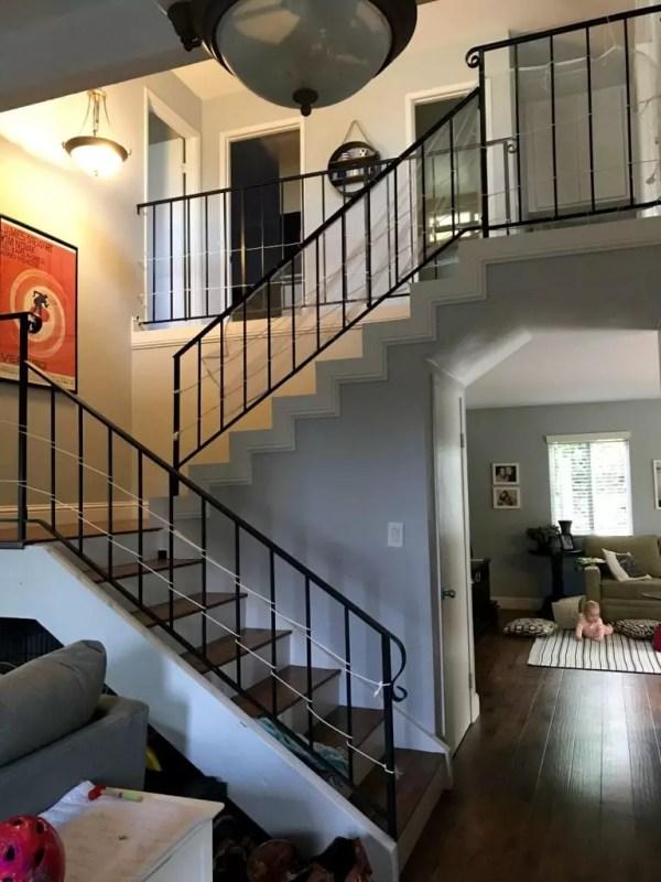 Stairs from front door