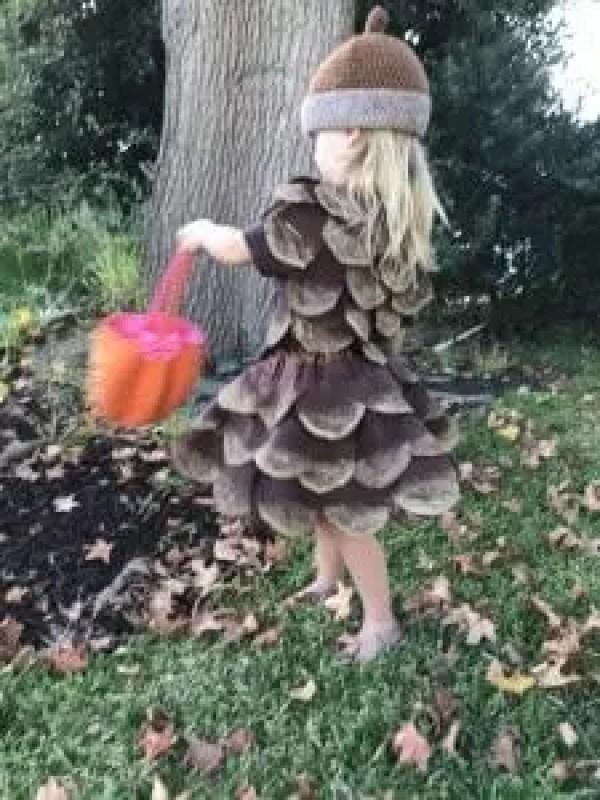 DIY Pine Cone Costume