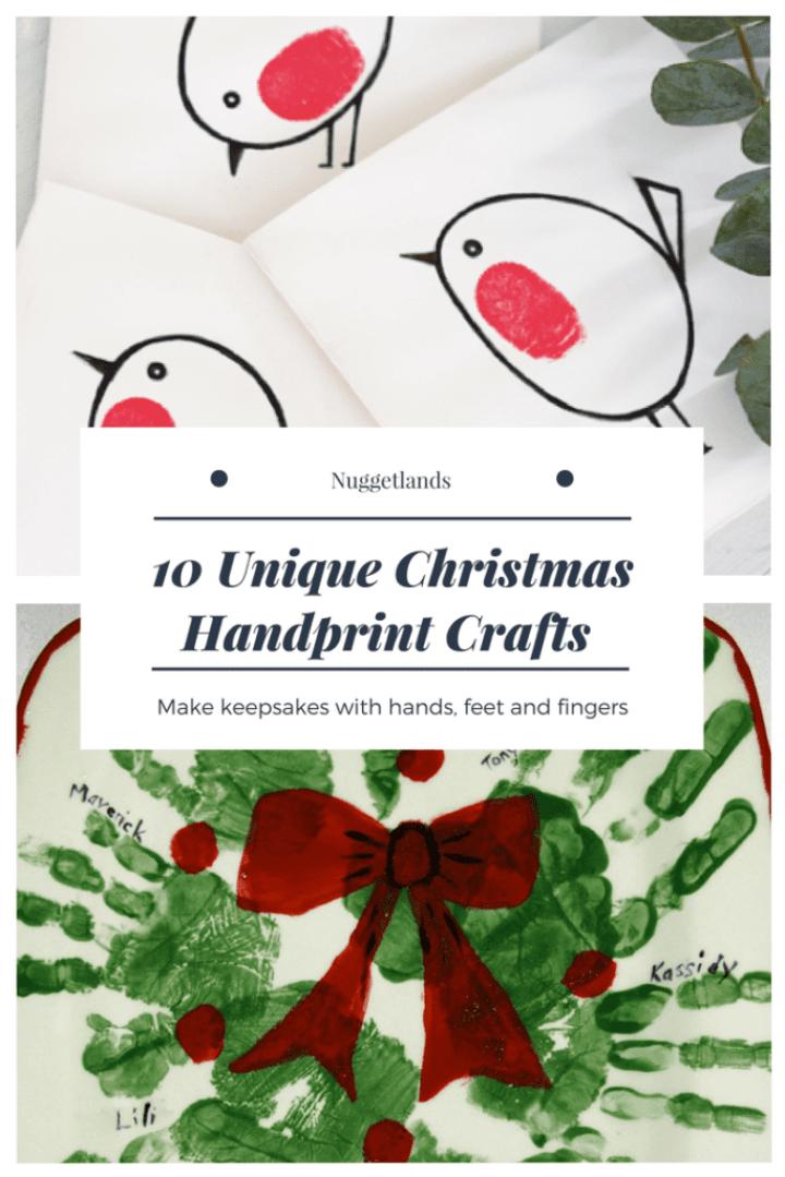 Unique Christmas Handprint Crafts