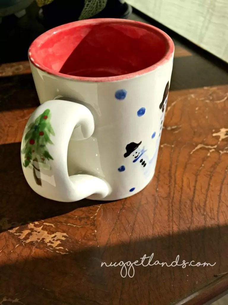 holiday craft mug finished