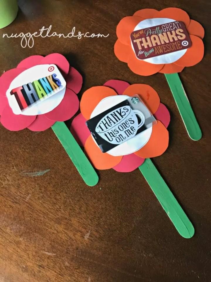 Teacher Appreciation Craft 3 flowers
