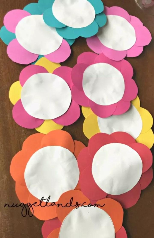 Teacher Appreciation Craft flowers no stem