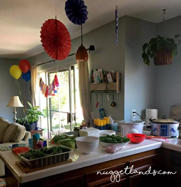 Cowgirl Birthday Food Spread