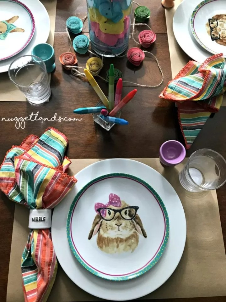 Easter kids table nibble