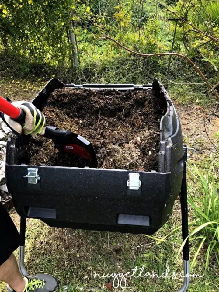 vegetable garden compost