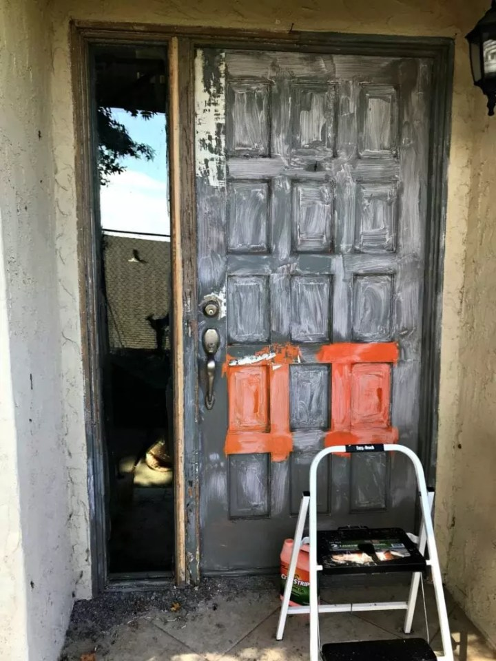 front door paint stripping