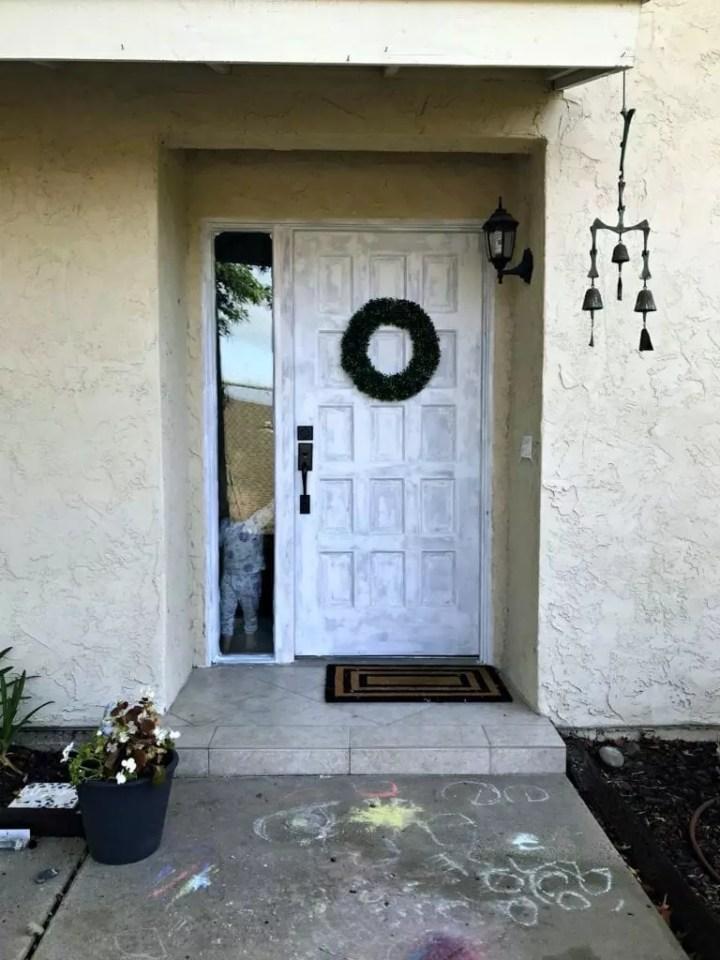 front door primed