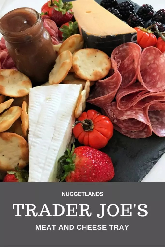 Ideas on how to make a meat and cheese tray for any size party using my favorite items from Trader Joe's. Easy, simple DIY boards that can be as fancy as you want for a show stopping appetizer. #appetizer #charcuterie #traderjoes #meatandcheese